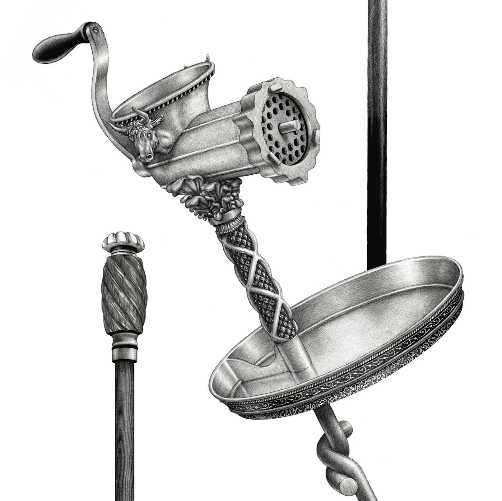 Ugo Gattoni Hermes walking sticks illustration projet dessin draw-4
