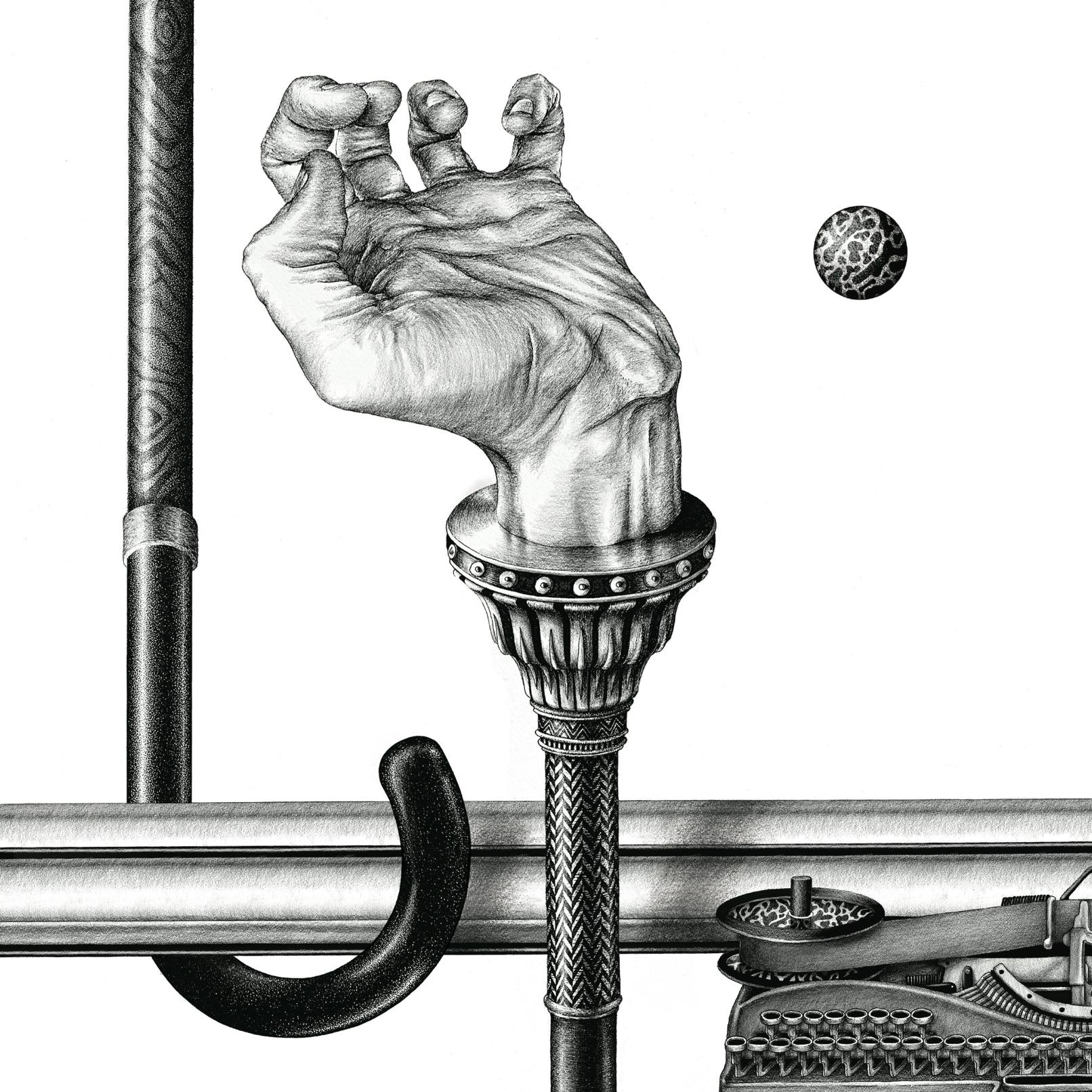 Ugo Gattoni Hermes walking sticks illustration projet dessin draw-6