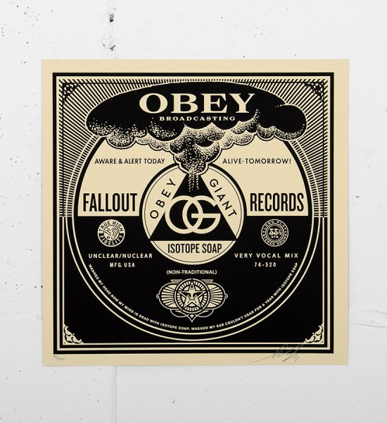 Obey_shepard_fairey_print_poster-serigraphie-fallout-records-cover-obey giant serigraphie screen print soldart com buy sell art acheter street art gallery