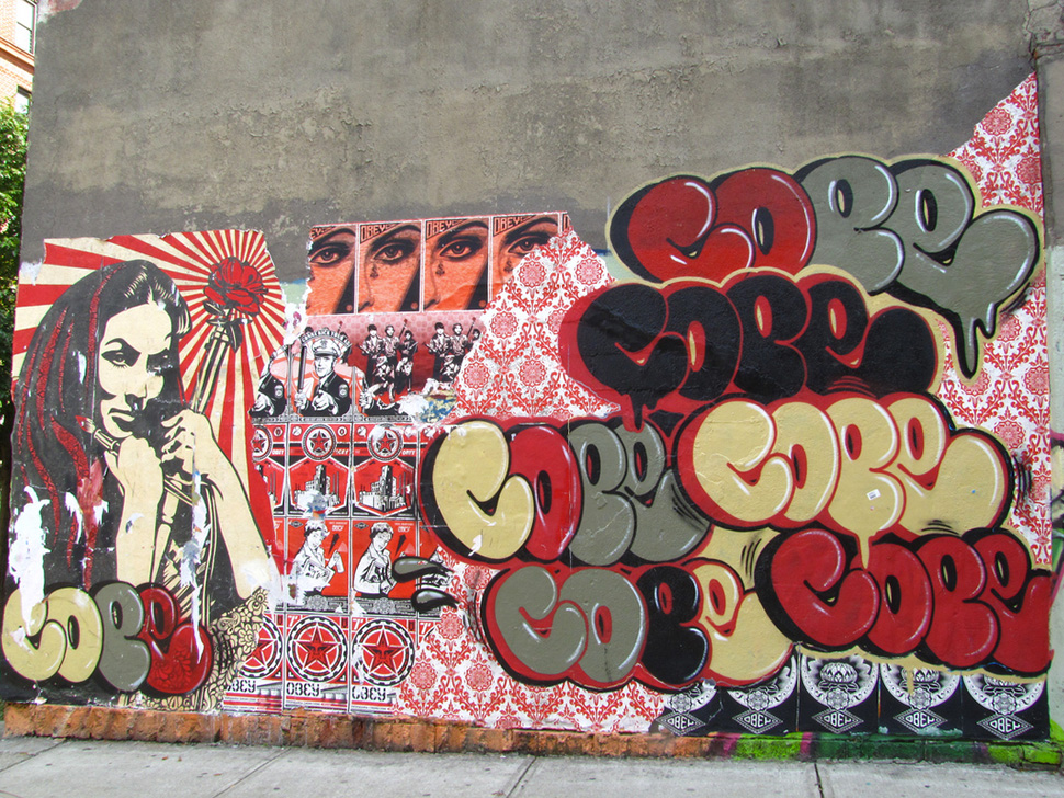 Cope2 et Shepard Fairey (Obey) – Graffiti 2011