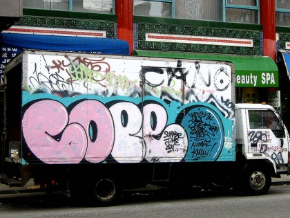 Cope2 – Graffiti on truck 2011