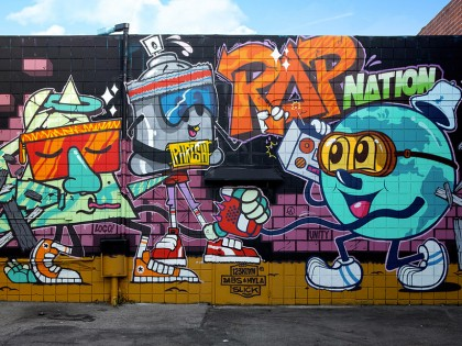 Dabs & Myla et 123Klan – Graffiti Culver City (US)