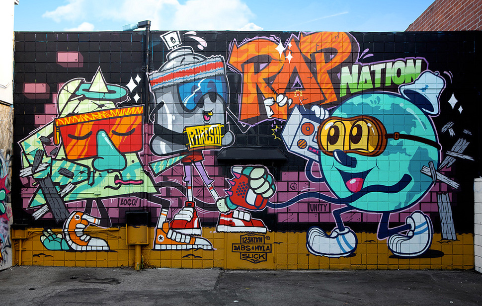 Dabs-&-Myla-123klan-scien-Klor-Culver-city-California-street-art-graffiti-wall-painting-USA-art-urbain-web