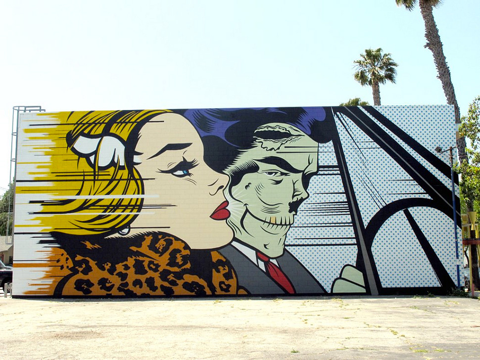 Dface-d-face-mural-girl-driver-Los-Angeles-graffiti-wall-painting-street-art-urbain-Roy-Lichtenstein-2011-web