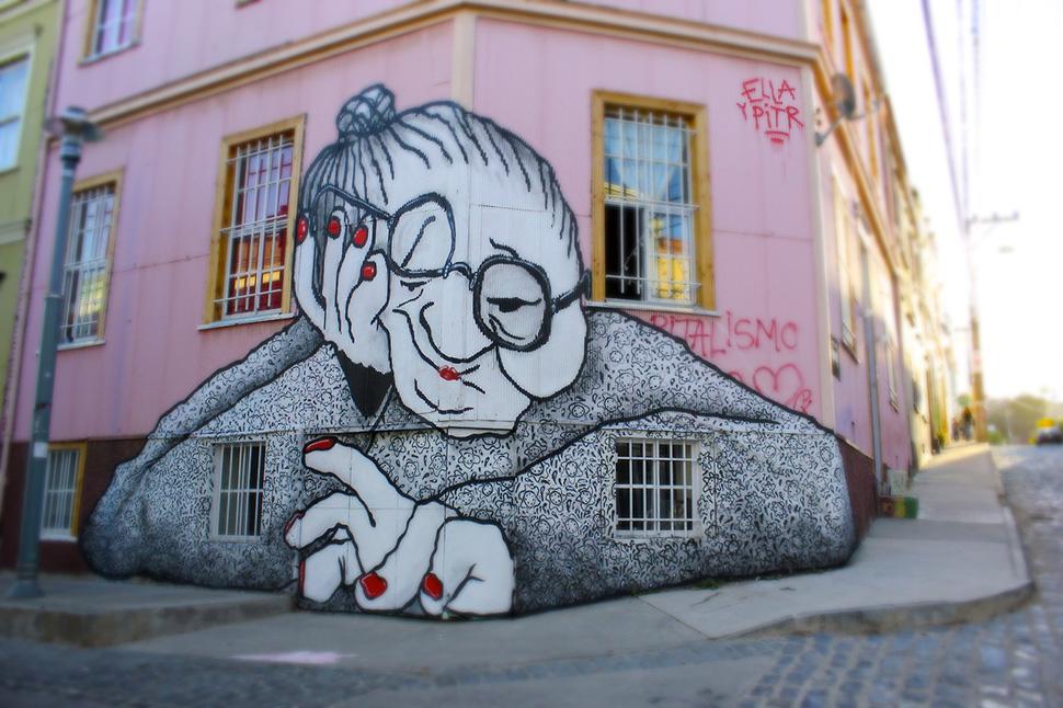 Ella-&-Pitr-Chilie-santiago-mamie-abuela-mummy-piece-art-ubrain-mumy-les-papiers-peintres-2014_1-web
