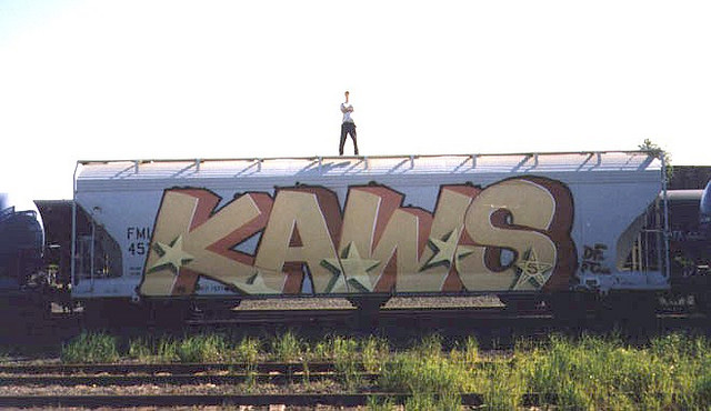 Kaws-graffiti-old-wall-train-painting-spray-web