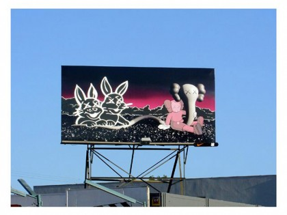 Kaws – Graffiti advertising