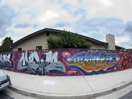 Mike Giant, Clown, Mews, Jaber – Graffiti Los Angeles 2013