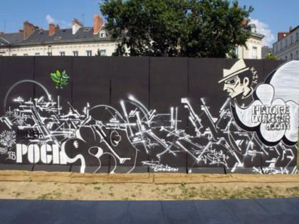 """Patrice Poch, Tilt – Graffiti """"Histoire d'un mur"""" Nantes 2013"""