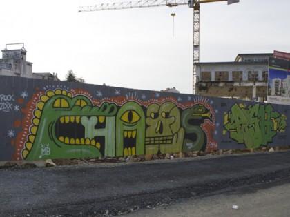 Patrice Poch et Chaos – Graffiti Rennes 2012