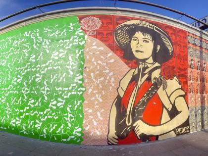 Shepard Fairey et Blake E. – Mural Los Angeles 2006