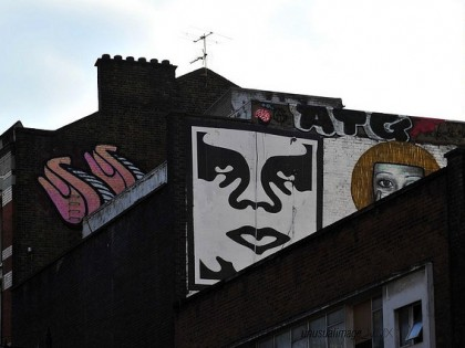 Shepard Fairey (Obey) – Graffiti UK 2010