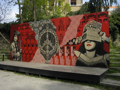 Shepard Fairey (Obey) – Fondation Cartier Paris 2009