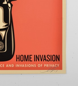 Obey Home invasion 1 screen print shepard fairey serigraphie graffiti street art urbain 3