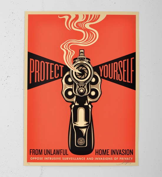 Obey Home invasion 1 screen print shepard fairey serigraphie graffiti street art urbain