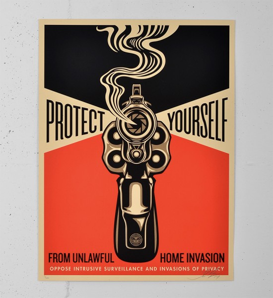 Obey Home invasion 2 screen print shepard fairey serigraphie graffiti street art urbain