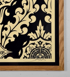 Obey Parlor Pattern Inverse Cream black screen print shepard fairey graffiti street art urbain serigraphie obey giant 2