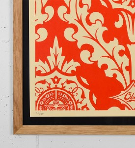 Obey Parlor Pattern Inverse Cream screen print shepard fairey graffiti street art urbain serigraphie obey giant 2-2