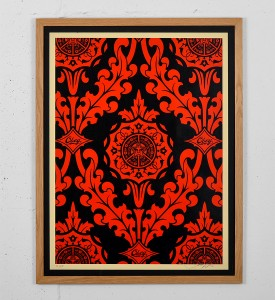Obey Parlor Pattern screen print shepard fairey graffiti street art urbain serigraphie obey giant 3-1