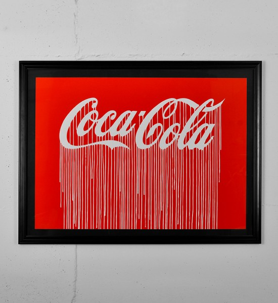 Zevs Liquidated Coca Cola Luminescent Print Edition print street art urbain artwork