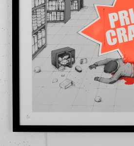dran price crash screen print serigraphie graffiti street art urbain toulouse 2