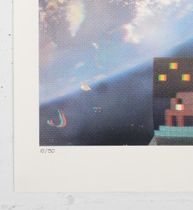 invader 3D Art4Space screen print street art urbain Rubik Cube space invader serigraphie 2