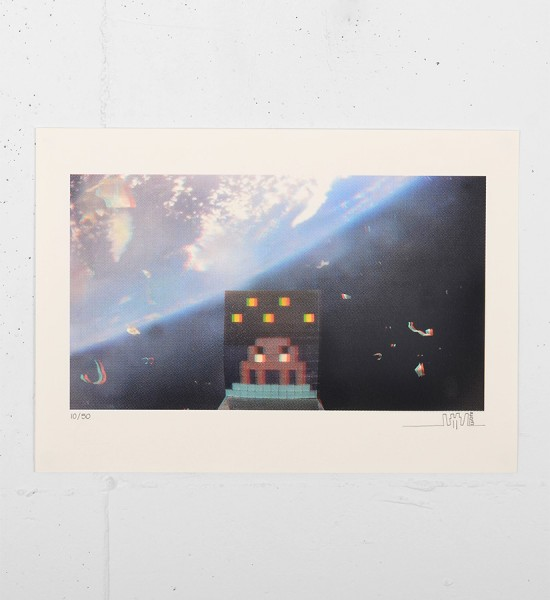 invader 3D Art4Space screen print street art urbain Rubik Cube space invader serigraphie