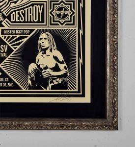 obey Iggy and the Stooges 2013 screen print shepard fairey graffiti street art urbain serigraphie obey giant 3