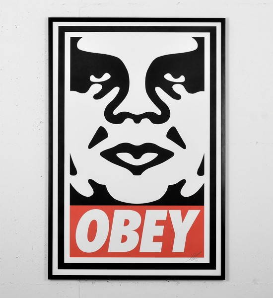 obey icon offset poster screen print shepard fairey graffiti street art urbain serigraphie obey giant