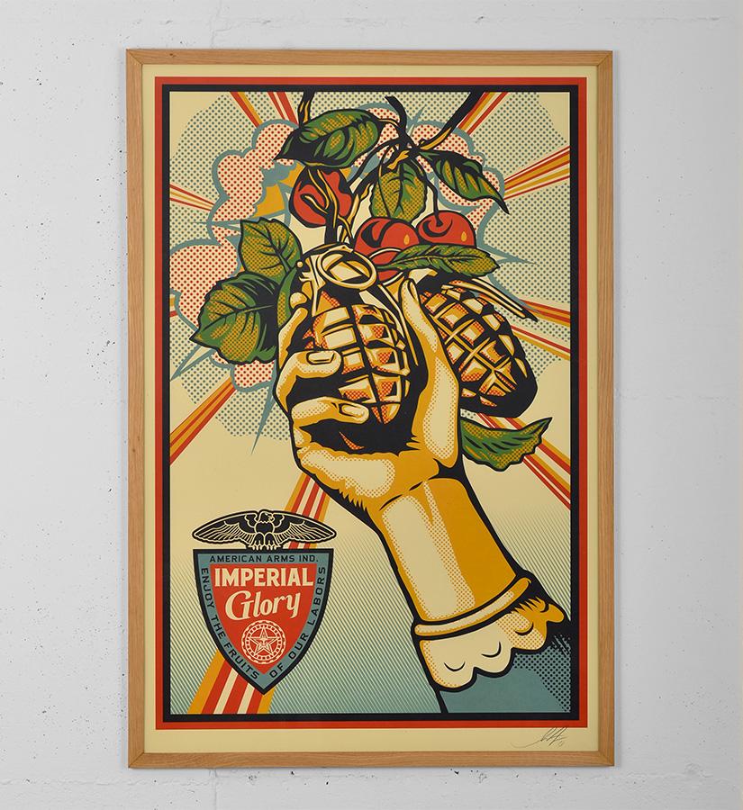 Shepard Fairey (Obey) - Make Art not war • Artwork • Print