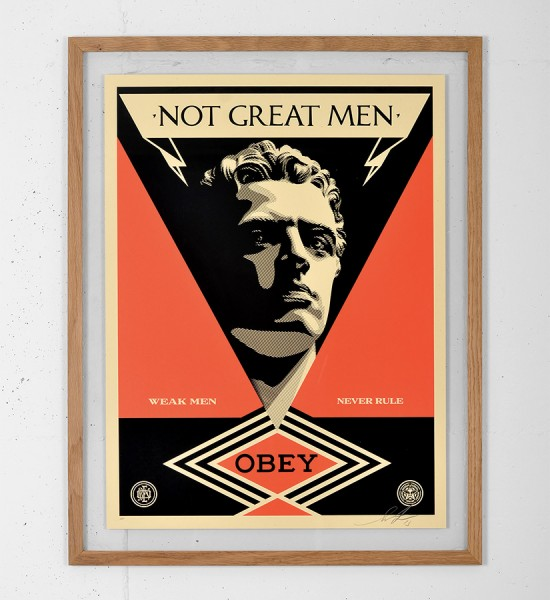 obey not great men screen print shepard fairey graffiti street art urbain serigraphie obey giant