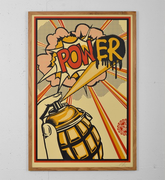 obey power print shepard fairey graffiti obey giant street art urbain mural offset