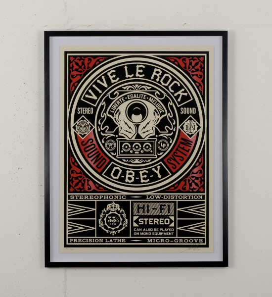 obey vive le rock shepard fairey serigraphie graffiti street art urbain wall screen print artwork 2