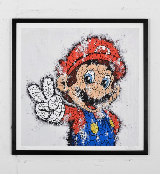 tilt mario print graffiti street art urbain wall artwork sold art