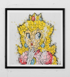 tilt peach princesse print graffiti street art urbain wall artwork sold art 3