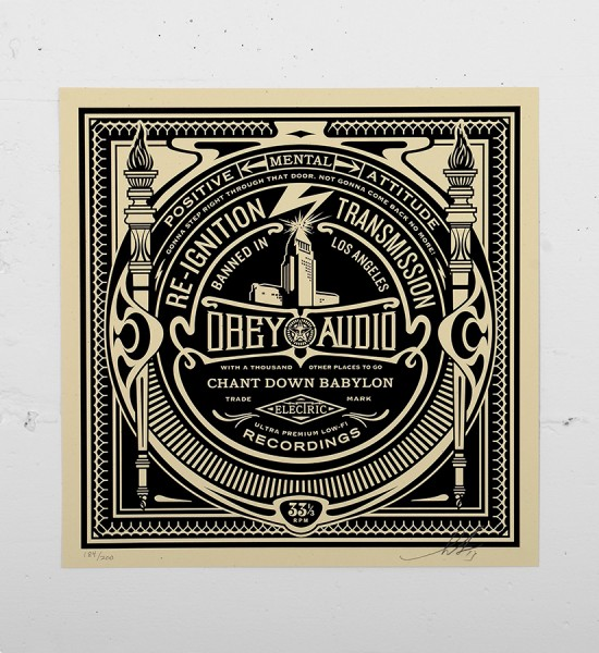 Obey_shepard_fairey_print_audio graffiti street art urbain serigraphie obey giant soldart.com sold art galerie art urbain online street art gallery