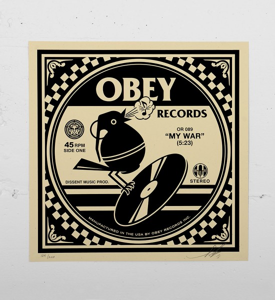 Obey_shepard_fairey_print_records graffiti street art urbain serigraphie obey giant soldart.com sold art galerie art urbain online street art gallery