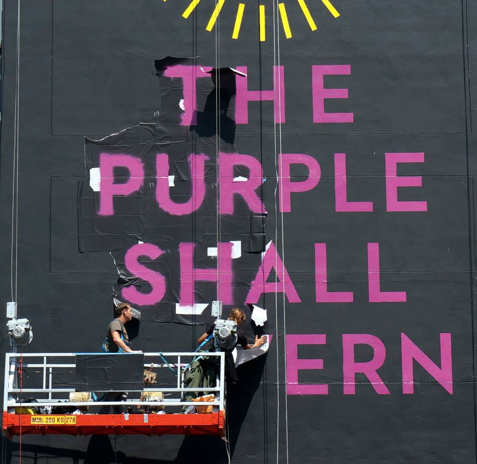 Shepard Fairey Obey The Purple Shall Govern Johannesburg mural street art urbain graffiti Photos Derek Smith