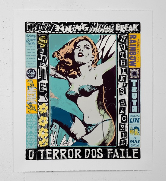 faile The Right One Happens Everyday screen print faileart street art urbain serigraphie sold art sale print gallery online soldart.com_1