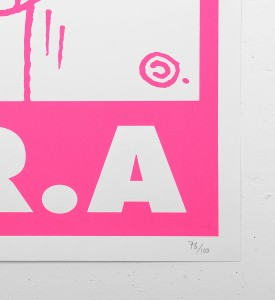 Andre_Saraiva_love mr A monsieurA_mrA_serigraphie_screen print_rose_pink_street art urbain graffiti sold art soldart gallery 3