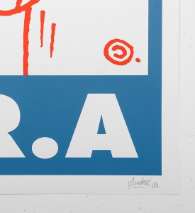 Andre_saraiva_screen print serigraphie_blue_red_art_le baron paris monsieurA_mrA_monsieur A Mr A sold art galerie soldart gallery_3