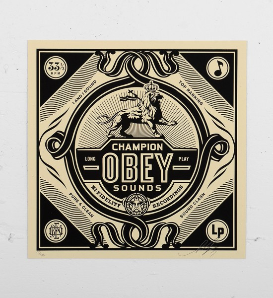 Obey_shepard_fairey_print_champion graffiti street art urbain serigraphie obey giant soldart.com sold art galerie art urbain online street art gallery