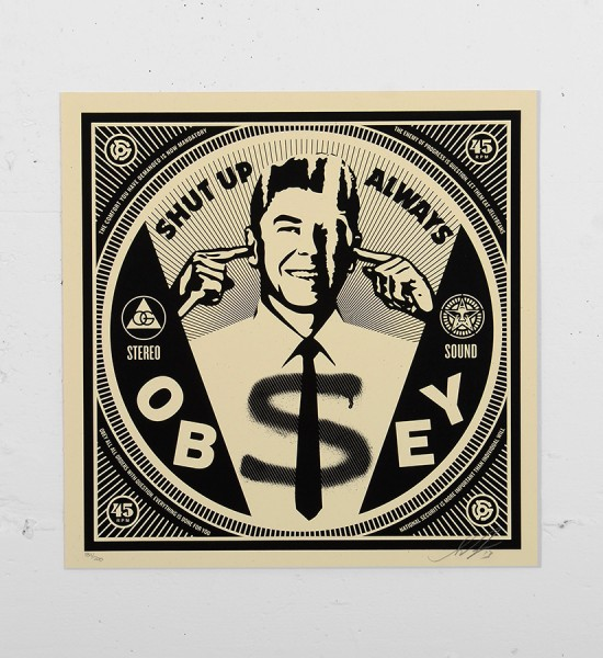 Obey_shepard_fairey_print_shut_up graffiti street art urbain serigraphie obey giant soldart.com sold art galerie art urbain online street art gallery_