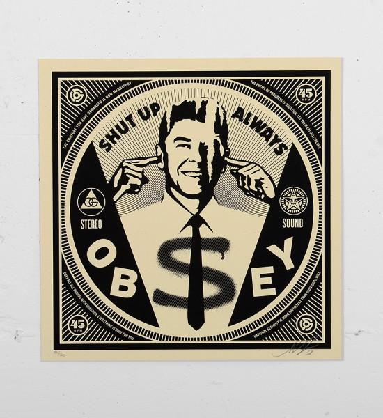 Obey_shepard_fairey_print_shut_up graffiti street art urbain serigraphie obey giant soldart.com sold art galerie art urbain online street art gallery_