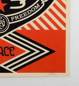Obey_shepard_fairey_serigraphie_print_PEACE_FREEDOM_DOVE_graffiti street art urbain serigraphie obey giant soldart.com sold art galerie art urbain online street art gallery 3