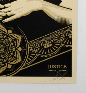 Obey_shepard_fairey_serigraphie_print_PEACE_JUSTICE_WOMAN_graffiti street art urbain serigraphie obey giant soldart.com sold art galerie art urbain online street art gallery 3