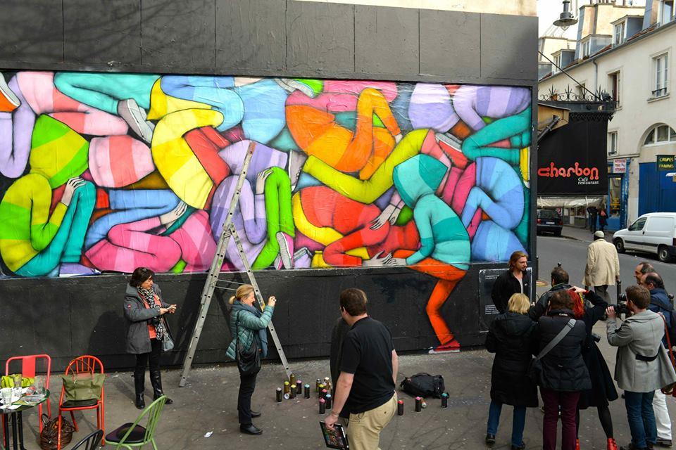 Video de Seth peignant le M.U.R. rue Oberkampf a Paris 3