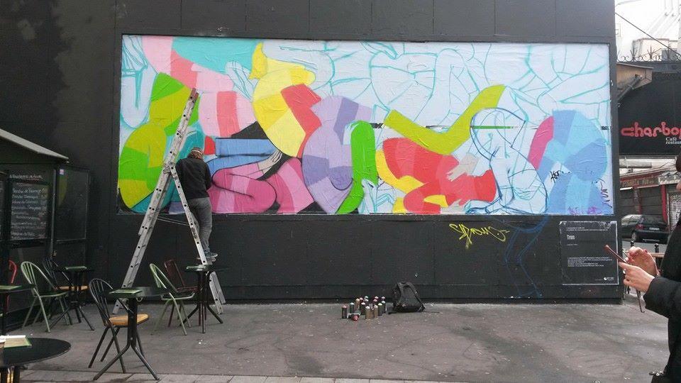 Video de Seth peignant le M.U.R. rue Oberkampf a Paris 4