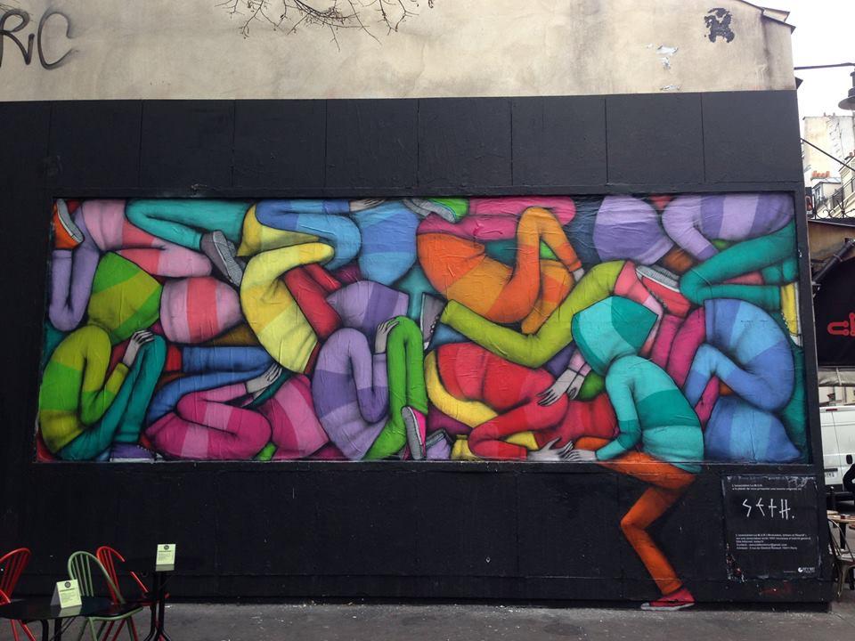 Video de Seth peignant le M.U.R. rue Oberkampf a Paris 6