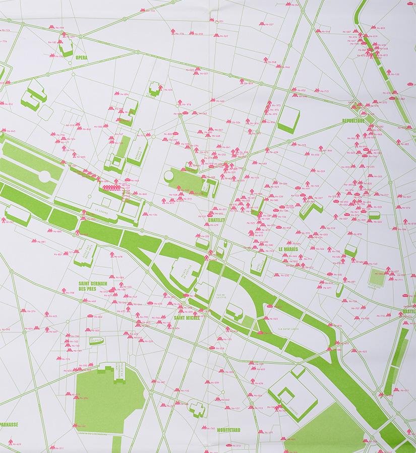 invader invasion de paris 1000 space invaders map. Black Bedroom Furniture Sets. Home Design Ideas